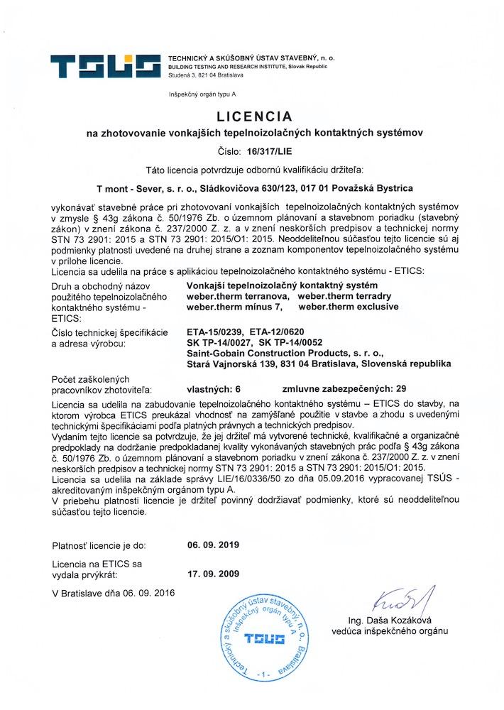 TSUS Licencia Weber