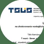 Tmont licencie a certifikáty